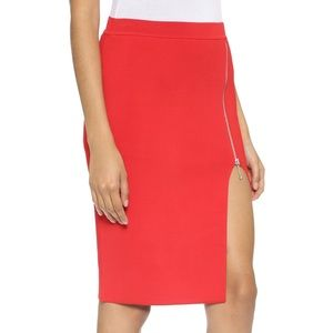 Alexander Wang Skirts - Alexander Wang red pencil skirt with zipper